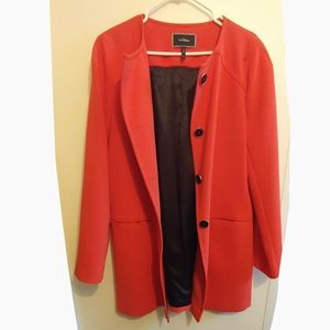 Le Chateau Coral Pink Long Jacket